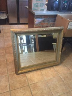 Large handcrafted wood mirror