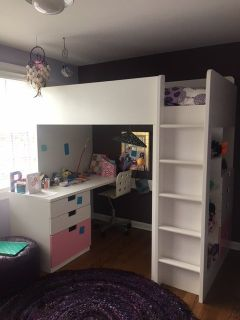 Kid's Loft Bed with Drawers and Desk