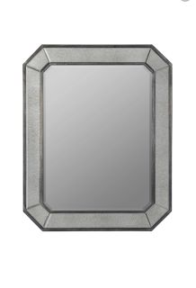 Antiqued Glass Wall Mirror