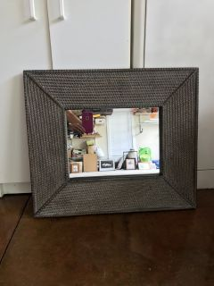 Awesome Small Wicker Mirror 27 x 23