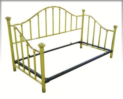 Brass Daybed with accessories