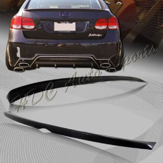 Buy For 2006-2011 Lexus GS350 GS450 Black ABS Plastic Rear Tail Trunk Spoiler Wing motorcycle in Walnut, California, United States