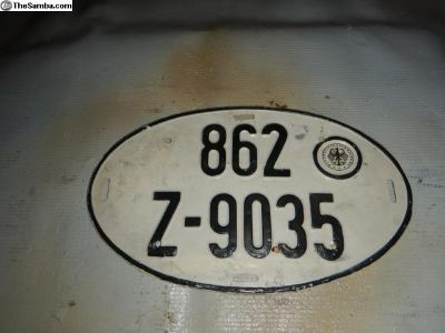 Euro Oval License Plate