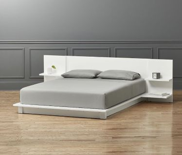 CB2 Queen modern white lacquer bed (retails for $900)