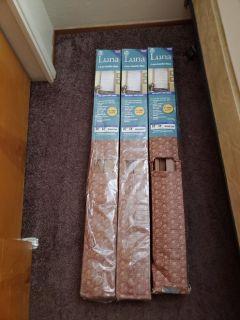Wood brown luna blinds×3