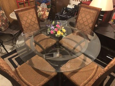 Glass Dining with 4 chairs