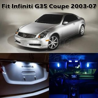 Sell 7 x Blue LED Interior Lights Bulbs Package Deal For Infiniti G35 Coupe 2003-2007 motorcycle in Cupertino, CA, US, for US $16.98