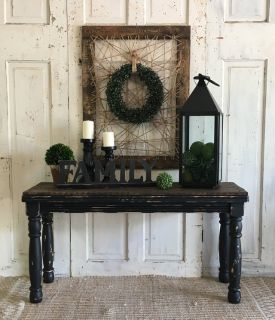 Rustic Black Sofa Table
