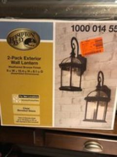 Hampton Bay 2 Pack Exterior Lantern