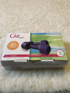 Purple Dumbbell Weights