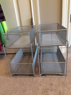 2 Pull out wire drawers for storage $12