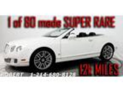 2011 Bentley Continental GT GTC Convertible W12 1 OF 80 MADE 12K MILES