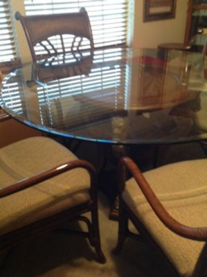 Wood and glass Dining room table