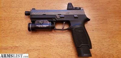For Sale: Sig P320 9mm, custom slide by Jagerwerks, RMR cut, Apex Trigger, threaded barrel, + more