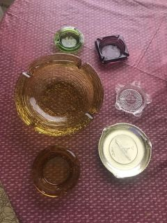 Collection of old ash trays
