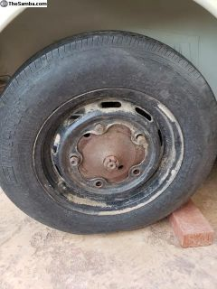5 lug slotted wheel with 2ply og tire