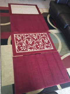 Set of Red Rugs