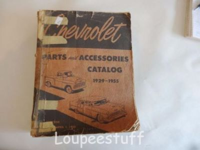Sell ORIGINAL 1929 - 55 CHEVY PARTS & ACCESSORIES CATALOG BOOK CAR & TRUCK LH421 motorcycle in Camdenton, Missouri, United States