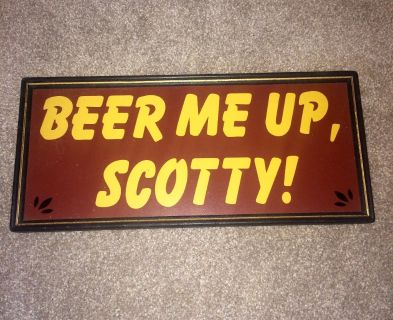 Old beer signs and decorations