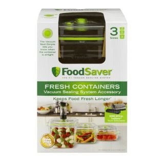 Food Saver Vacuum Container 3 Pack New In Box Never Opened