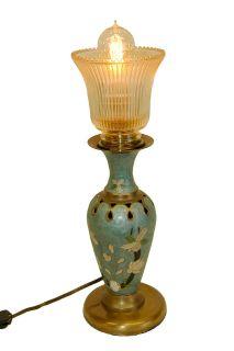 Reclaimed Green Vase Lamp