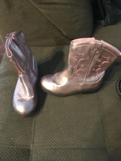Girls pink cowgirl boots size 12