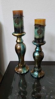 Turquoise and Copper Candles and Holders