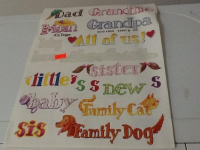 Cute family stickers including pets