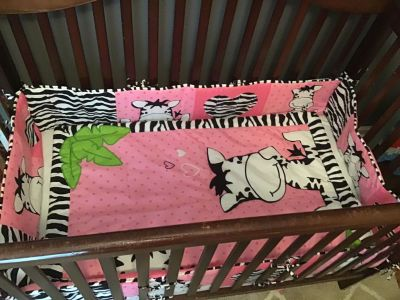 Baby Boom I Love Zebras Crib Set