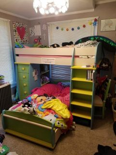 Adorable Girls Bunk Bed & Mattresses--REDUCED!