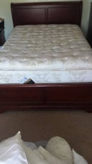 beautiful queen sleigh bed with matching nightstand