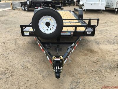 7x20 Heavy Duty Car Hauler, Heavy Duty Equipment Tiltbed PJ Trailer TJ202