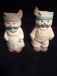Indian kitty cats salt and pepper shakers