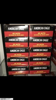 For Sale: American Eagle 45 ACP Ammo