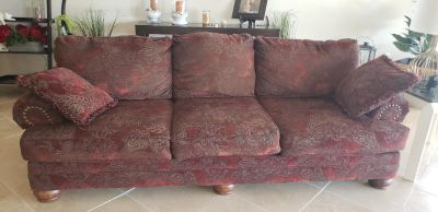 Couch love seat oversized chair