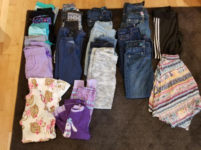Lot Girls Clothes Size 10 12