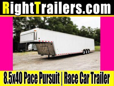 8.5x40 Pace Pursuit | Gooseneck Race Car Trailer
