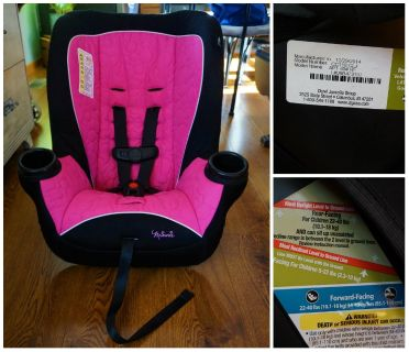 Disney Minnie Mouse Convertible Car Seat (Southside Oshkosh) CROSS POSTED