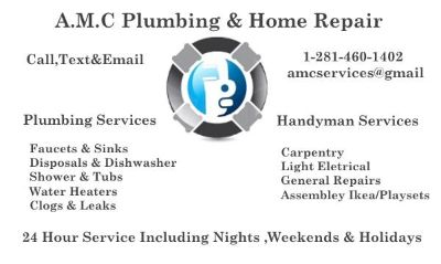 AMC Home Remodeling 281-460-1402  Handyman Make Ready Repair Service 281-460-1402 Lowest Price