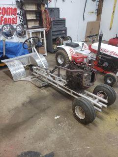 pulling mower