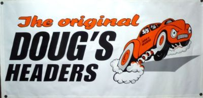 Sell Doug's Headers Racing Banner Vinyl 4 Foot Long Size New Willy's FREE Decals motorcycle in Arlington Heights, Illinois, United States, for US $29.99