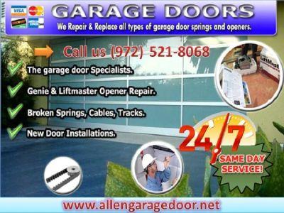 24/7 Residential Garage Door Installation ($25.95) Allen|Dallas,75071, TX