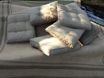 4 sets of cushions for patio chairs