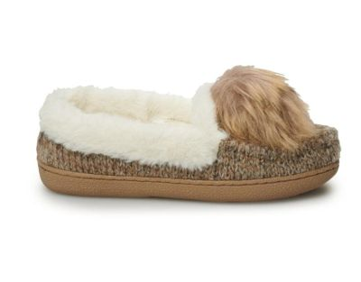 Women's SONOMA Goods for Life Sweater Knit Moccasin Slippers LARGE