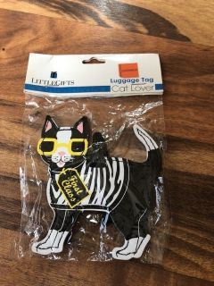 NEW cat lover luggage tag