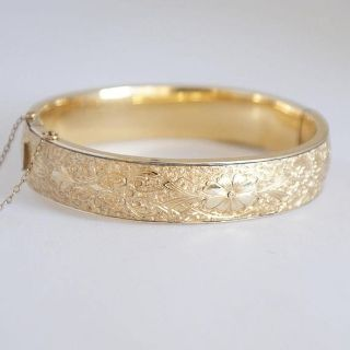(New York 1922) Antique Gold 12 kt GF BB Binder Bros Signed Hallmarked Stamped Bangle Bracelet...
