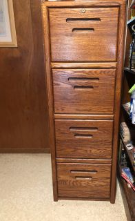 Solid 4 drawer cabinet