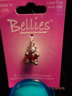 Cute Silver & Red Cat Charm