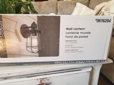 New in box out side light