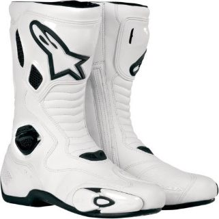 Sell Alpinestars S-MX 5 Street-Track Sport Motorcycle Boots Size 14 White/Black 14 50 motorcycle in Loudon, Tennessee, United States, for US $185.98
